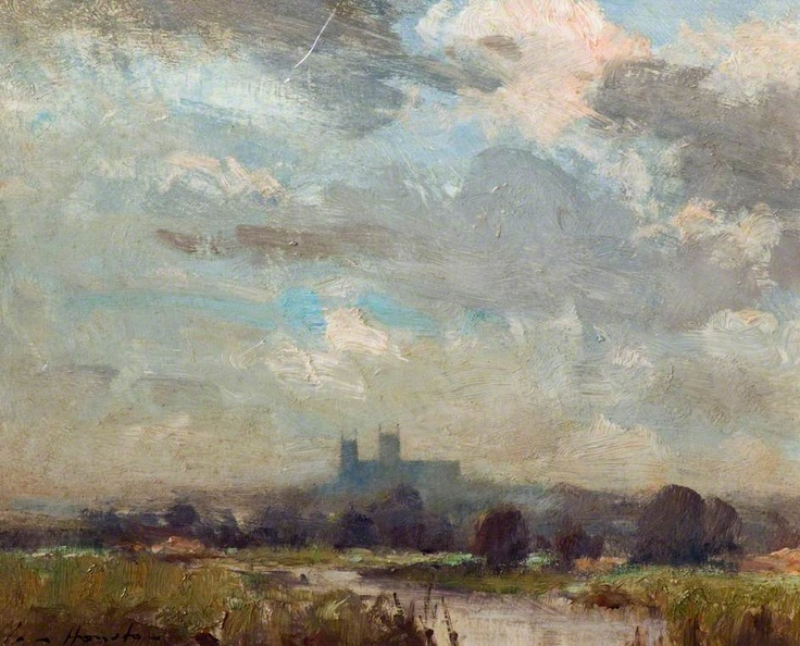 Lincoln Cathedral from the Water Meadows  by Ian Houston