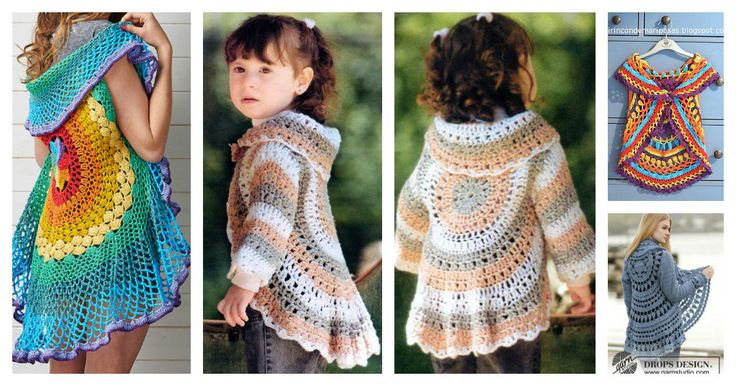 Crochet jackets are not only warm and cozy, but also pretty. If you are a fan of crochet, why not crochet a circle jacket?