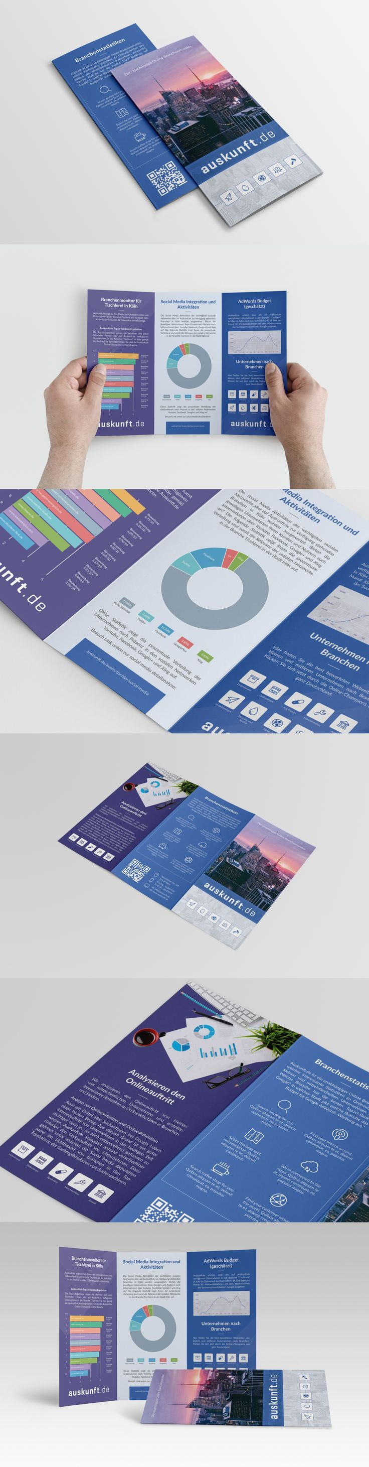 How cool is this? #brochure #internet #blue #modern #purple #chart #printdesign #print #trifold #cladogram #histogram #indesign #illustrator #photoshop