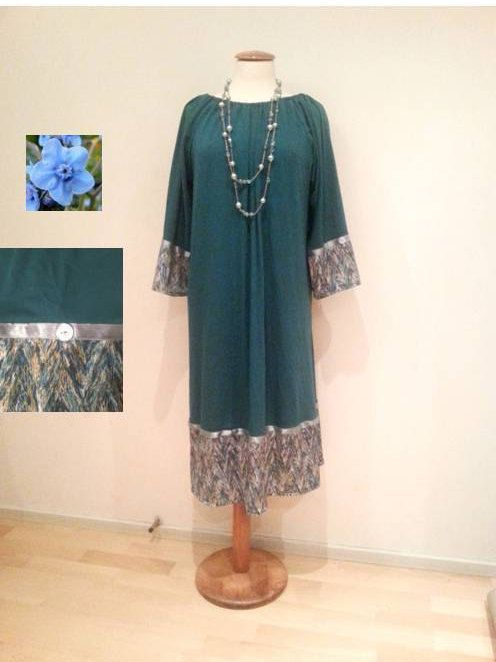 Green tunic dress peacock dress retro style dress by WalinaWebshop
