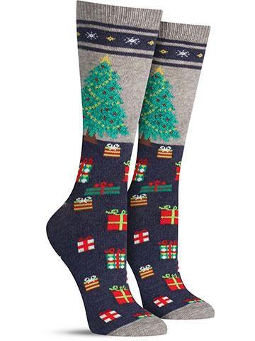 Christmas Tree Non Skid Socks | Womens