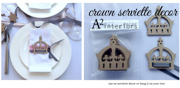 Crown Serviette Decor - Cardboard