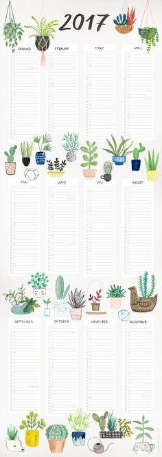 Wieder gibt es einen enna Poster Kalender, mit dem Ihr das ganze Jahr auf einen Blick habt.  Format: 29,7 x 84 cm  Das Poster wird gerollt verschickt.