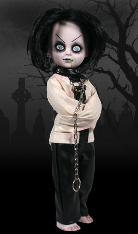 Sybil- Strapped in a straight jacket  with a collar and chain.  Pray that this is enough  to keep Sybil restrained.      Locked away forever insane,  The doctors came and removed her brain.  She died on the table by morning light,  Now in search of a mind she wanders the night
