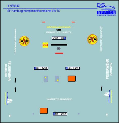 950642, BF Hamburg, GW-KRD Gerätewagen Kampfmittelräumdienst, VW T5 GP Halbbus, Feuerwehr Hamburg,