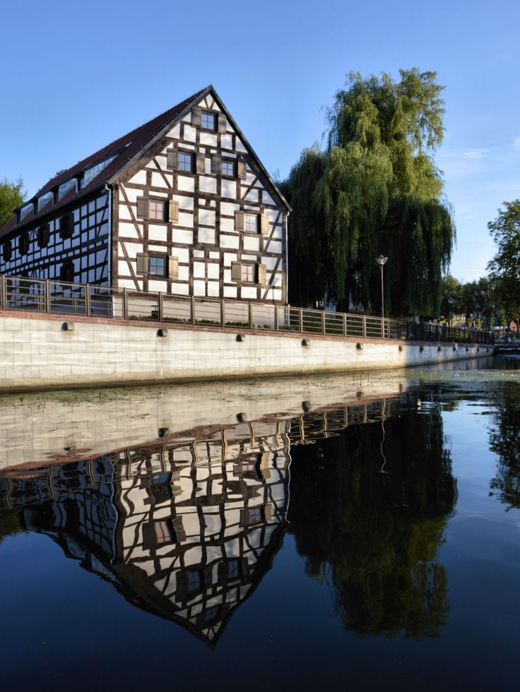 White Granary, Mill Island, Bydgoszcz, Poland