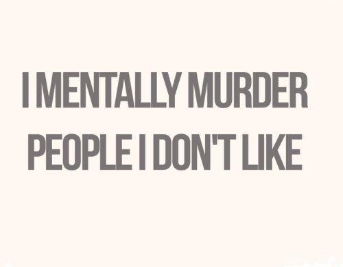people I don't like..