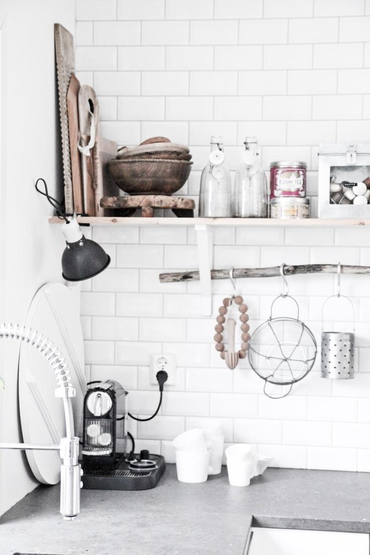 Keittiön taso ja seinä