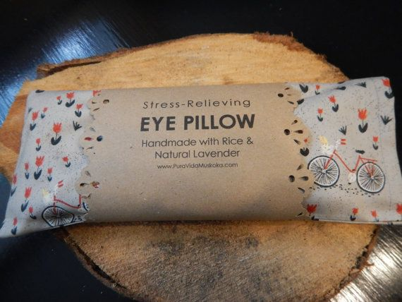 Lavender Rice Meditation Eye Pillow by PuraVidaCreative on