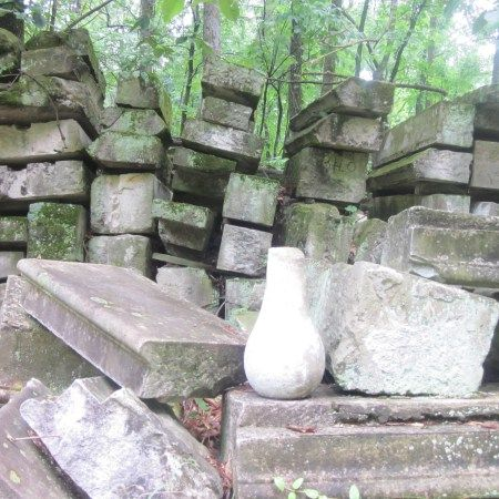Stones from US Capitol in Rock Creek Park:  Old pieces of the US Capitol along a horse trail in Rock Creek Park!