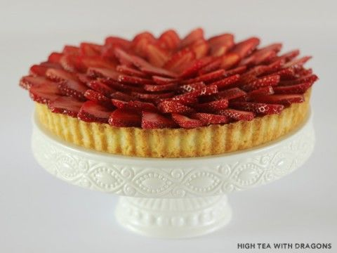 Perfect Vanilla & Strawberry Tart - nzgirl