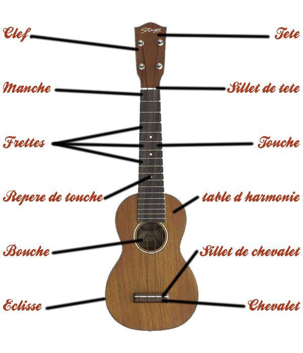 Un ukulélé c'est quoi ? Ici tu vas apprendre les différentes parties qui compose cet instrument. tab-ukulele.com