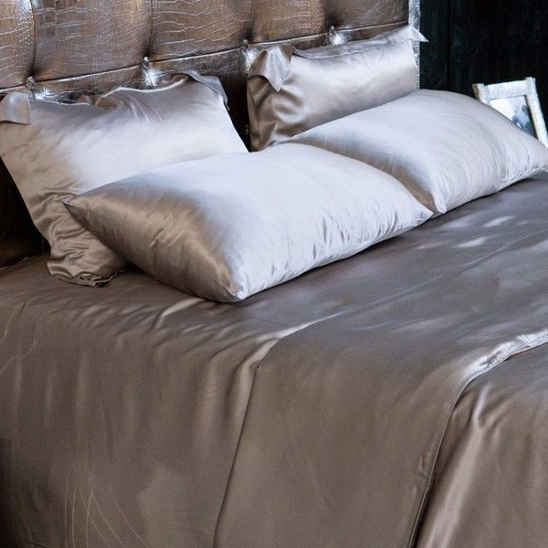silver silk sheet set is made from the finest seamless mulberry charmeuse silk