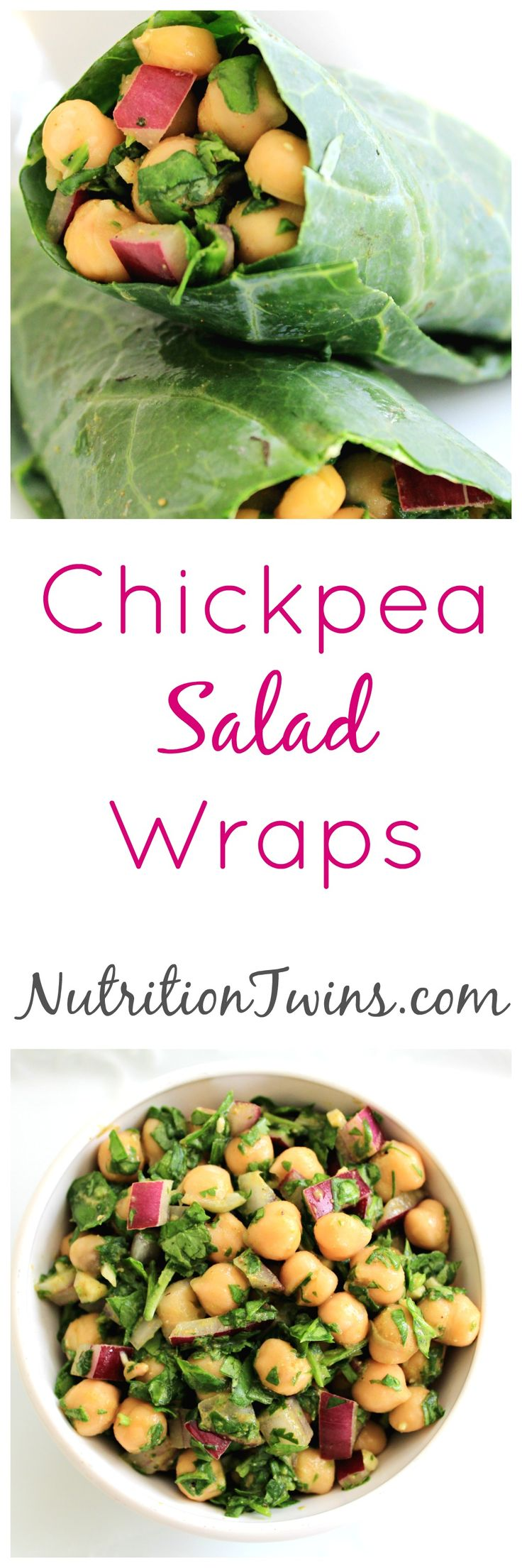Chickpea Salad Wraps | Only 212 Calories | Great way to cut calories with healthy veggie wrap |Delicious Lunch Packed with Fiber | For Nutrition & Fitness Tips, and RECIPES please SIGN UP for our FREE NEWSLETTER www.NutritionTwins.com