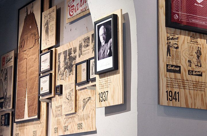 Timeline  Carhartt Work In Progress store, Milan store design