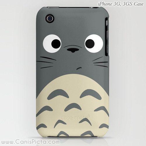 Totoro Kawaii My Neighbor iPhone iPod Samsung Galaxy S4S Case 5, 5c, 5s, 4, 4s, 3G, 3GS Anime Grey Manga Troll Hayao Miyazaki Studio Ghibli