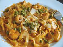 pasta met scampi http://www.budgetkoken.be/pastagerechten/pasta-met-scampi.php