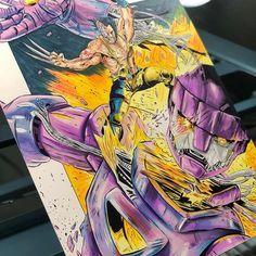 Who do you like more: classic wolverine or old man Logan? Wolverine Vs Sentinel - Price: $325 Art by @thedominicglover #wolverine #wolverinecomics #zombiewolverine #marvelart #ratedr #loganmovie #hughjackman #wolverinemovie #artiseverywhere #artiseverything #logan #avengers #xmen #xmencosplay #xmenart #deadpool #xman #marvel #marvelcosplay #x23 #marvelcinematicuniverse #oldmanlogan #denvercomiccon #amazinglasvegascomiccon #fanx #comicfest