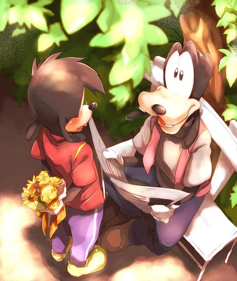Goofy And Donald Anime Version: Goofy And His Son, Max. Disney.