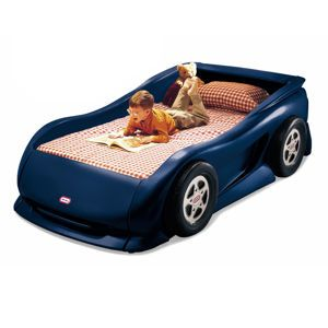 Subaru car bed!! We can add emblems and stickers to look like Daddy's car! hahaaa
