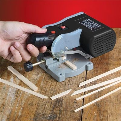 MicroLux Mini Miter / Cut-Off Saw. I think I need one of these.  Would be great for metal tubing and miniature painting frames