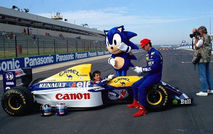 A Prost   D Hill   Sonic   Williams   1993