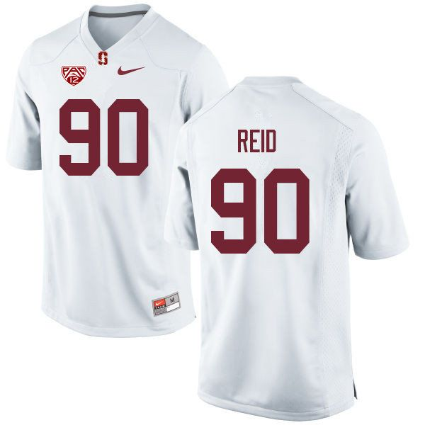 Men 90 Gabe Reid Stanford Cardinal College Football Jerseys Sale White Football Jerseys Stanford Cardinal Stanford Football