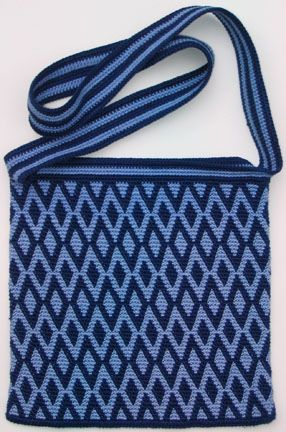 Tapestry Crochet Diamonds Purse, just a picture no pattern.