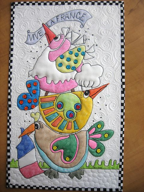 coloured quilt, quilt coloreado