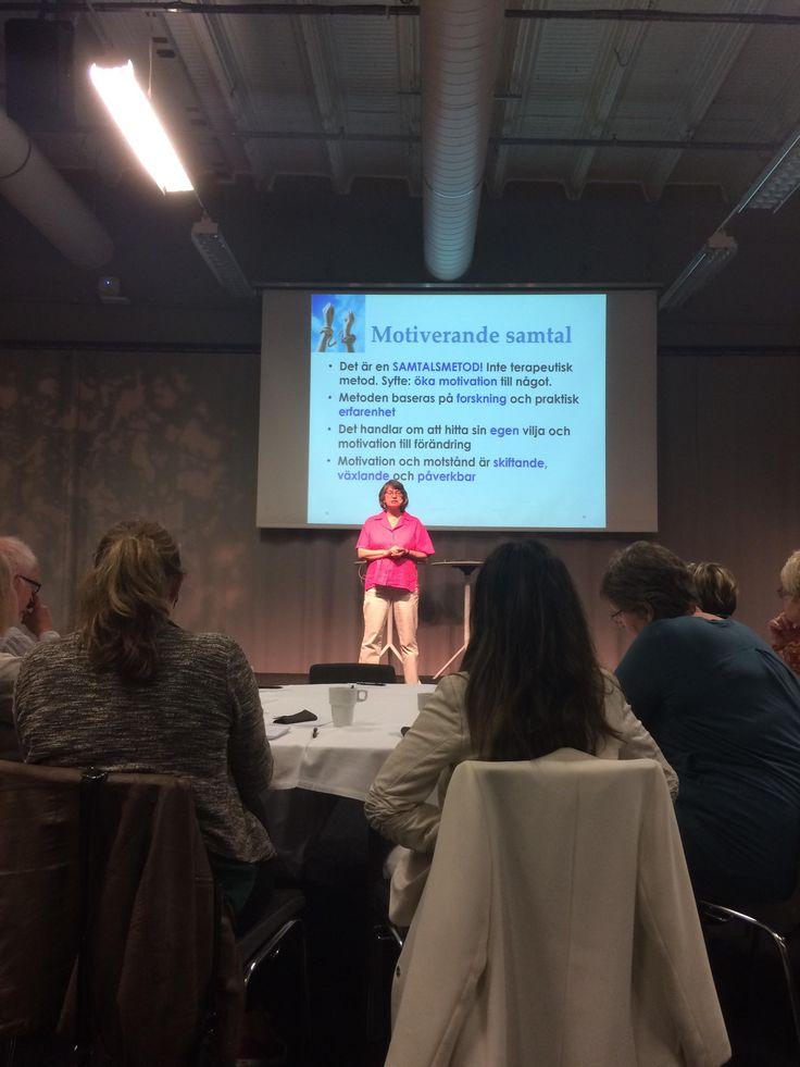 Idag föreläste jag om Motiverande samtal vid våld i nära relationer för Länsstyrelsen i Göteborg. Härlig publik!!