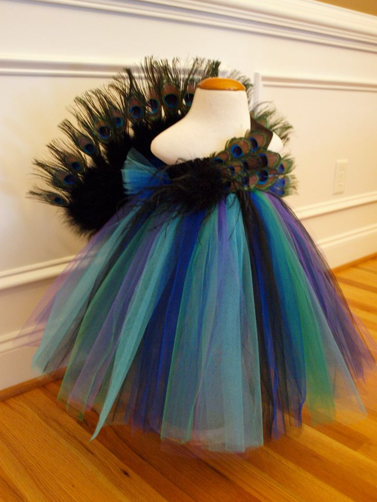 Peacock Tutu Dress Costume for Babies, Toddlers, and Little Girls with Free Headband by ShopaholicandBabies on Etsy