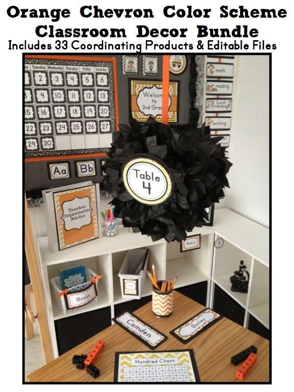Orange Classroom Decor ~ Images about classroom color schemes on pinterest