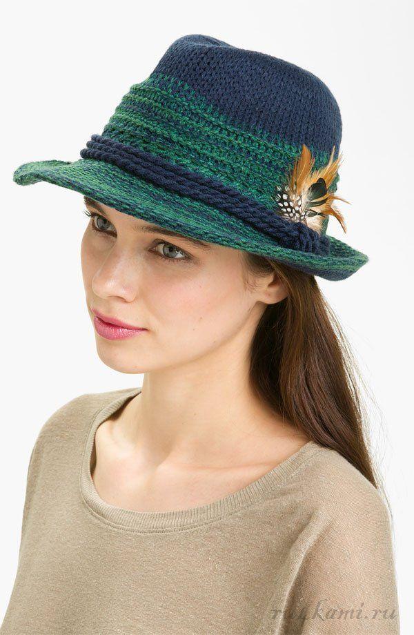 «Федора» шляпа спицами