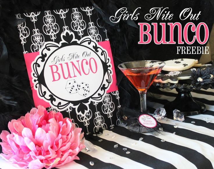 Bunco- Girls Night Out printables