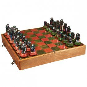 Peter Shire (American, B. 1947), Chess Set, 1971,