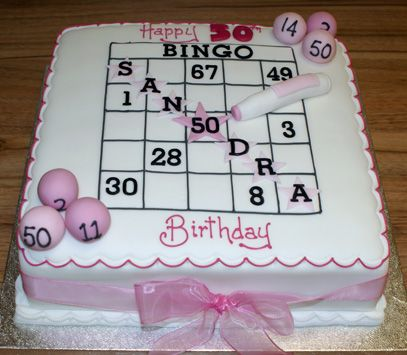 Bingo Birthday Cake Idea Casino Sweets T