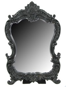 Standing mirrorHobbies Lobbies, Bathroom Mirrors, Beautiful Mirrors, Resins Scrolls, Black Resins, Wall Decorations, Girls Room, Bedrooms Dressers, Scrolls Frames