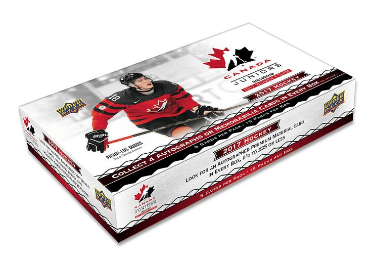 Collect The 100-Card Base Set Loaded With Top Prospects Playing For his Historic Program of Champions.  Find Amazing Jumbo Patches That Spell Out CANADA!