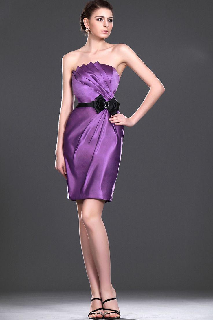 eDressit New Fashionable Strapless Purple Bridesmaid Dress