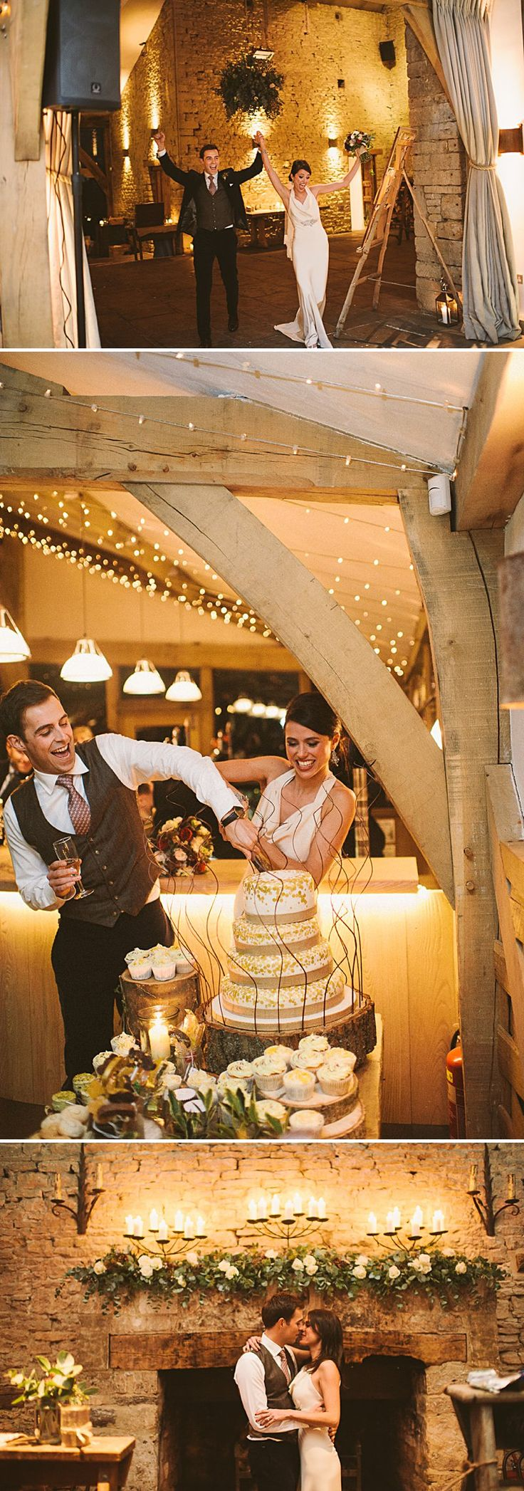 A rustic winter wedding at Cripps Barn with DIY home made decor and Halfpenny London bridal gown blue maids dresses and photography by Ellie Gilliard 0013 A Rustic Winter Wedding At Cripps Barn