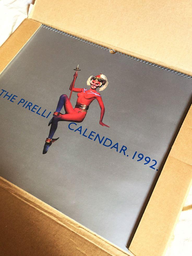 Vintage The Pirelli Calendar 1992 in original box, calendar collectibles, erotica, photo, horoscope, chinese horoscope di Quieora su Etsy