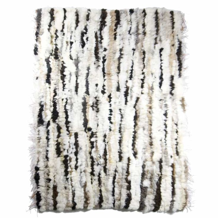 GIE EL 'Recycled' Natural Fur Rug - Bright Melange 100x160cm - Design Shop