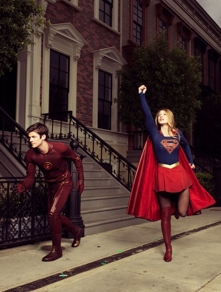 The flash and super girl costumes, By the way that the real flash and supergirl