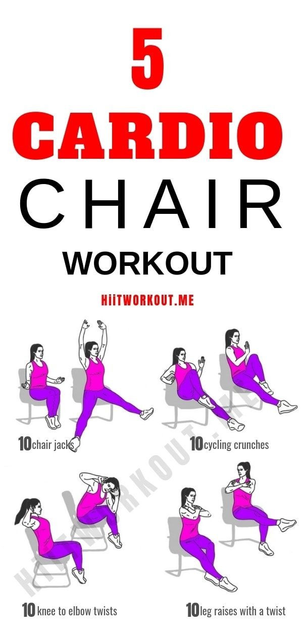 5 Best Cardio Chair Workout To Burn Calories Chair Exercises Fun Workouts Hiit Workout