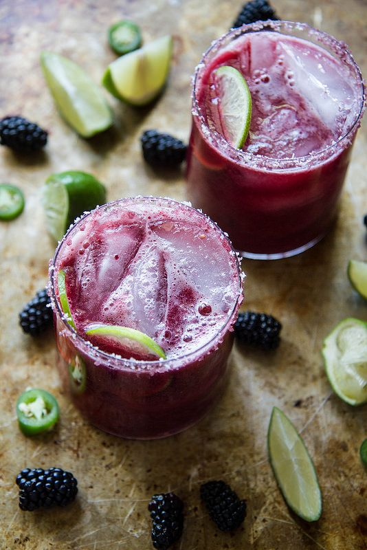 Blackberry Jalapeno Margarita  I would make it with vodka..tequila makes me crazy..lol