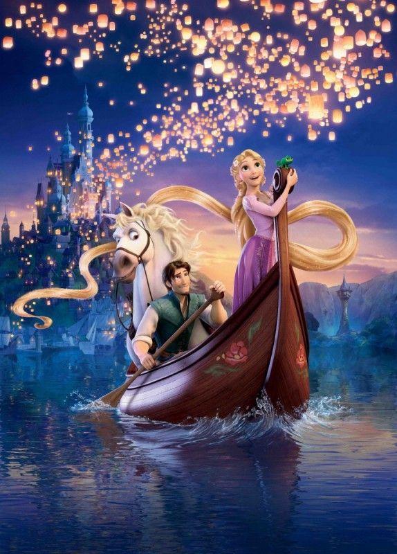 ディズニー・ラプンツェルの参考イラスト♡『塔の上のラプンツェル』素敵なシーン♡                                                                                                                                                                                 もっと見る
