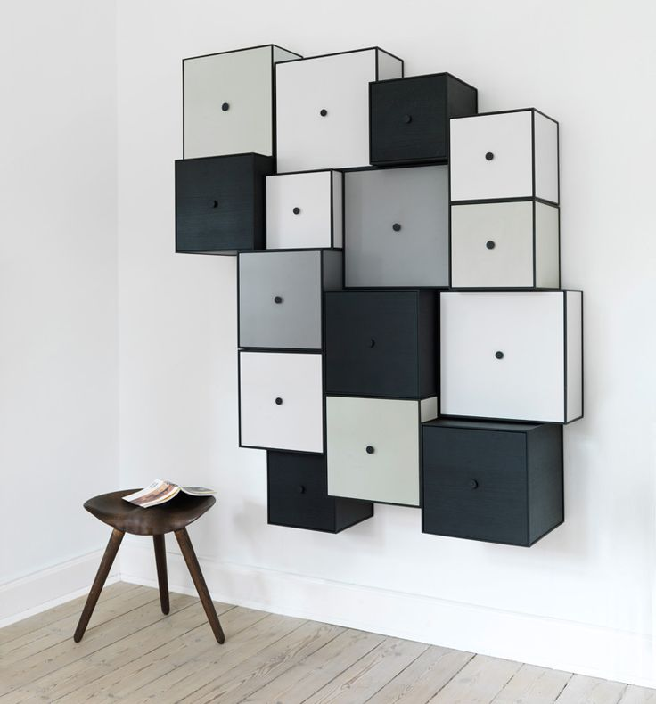 These modular shelf/drawers can be used to create a functional statement piece