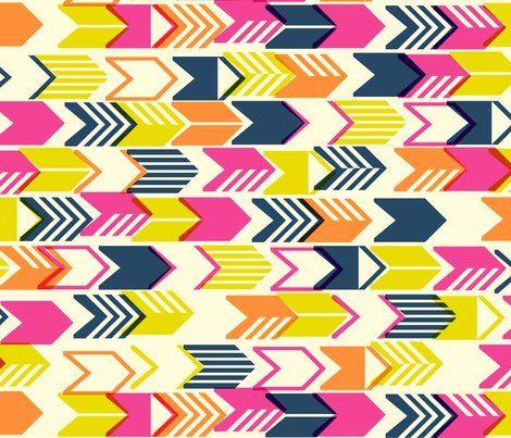 Tribal Arrows print. Amy Peppler Adams (penny candy) on Spoonflower.