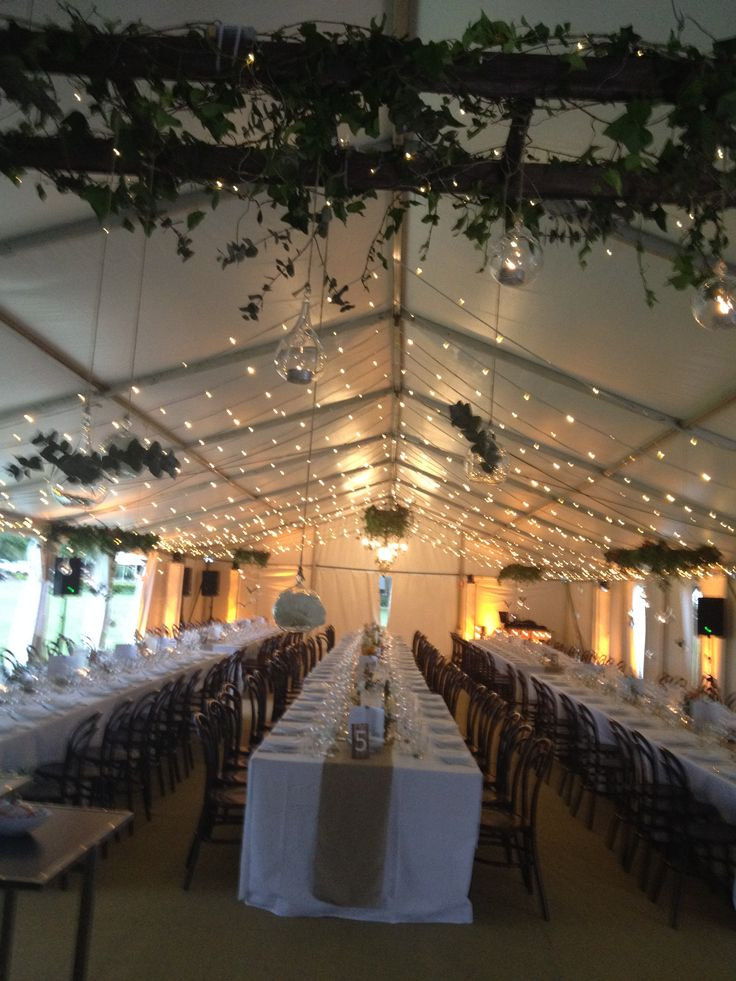 Marquee wedding reception - styled by Wishes Events