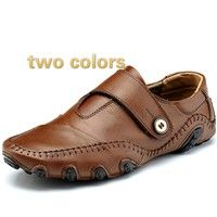 Wish | 2016New Fashion Trend Men Loafers Genuine Leather Mocassin Men Shoes Casual Driving Men Flat Shoes Slip On Plus Size